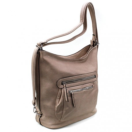 Světle hnědá dámská crossbody kabelka a batoh Ascelina