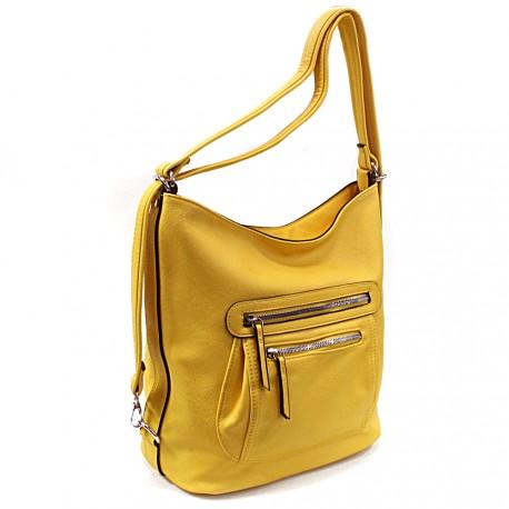 Žlutá dámská crossbody kabelka a batoh Ascelina