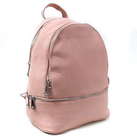 Růžový dámský elegantní batoh Alagi