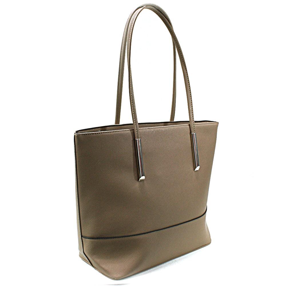 Khaki elegantní dámská kabelka do ruky i na rameno Saray