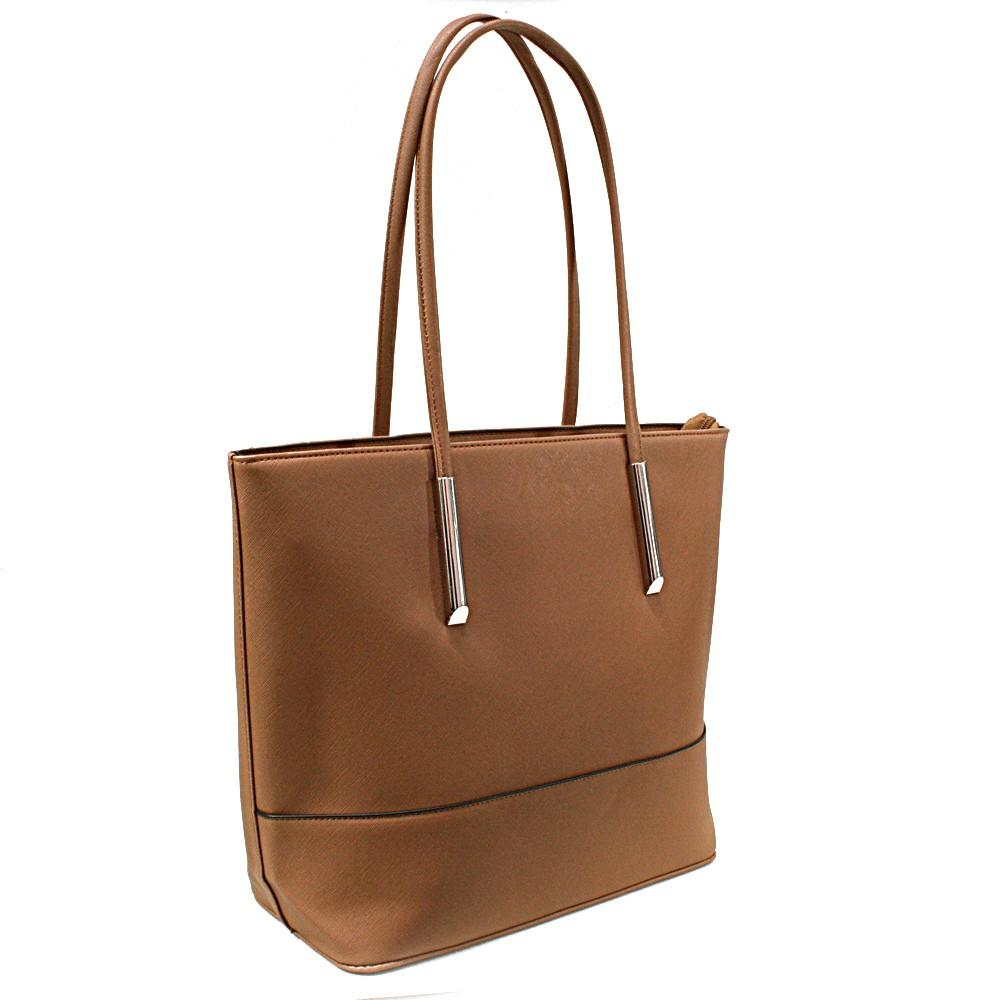 Hnědá elegantní dámská kabelka do ruky i na rameno Saray