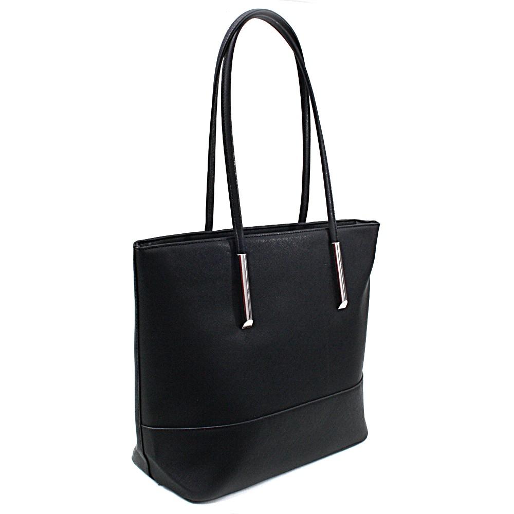 Černá elegantní dámská kabelka do ruky i na rameno Saray
