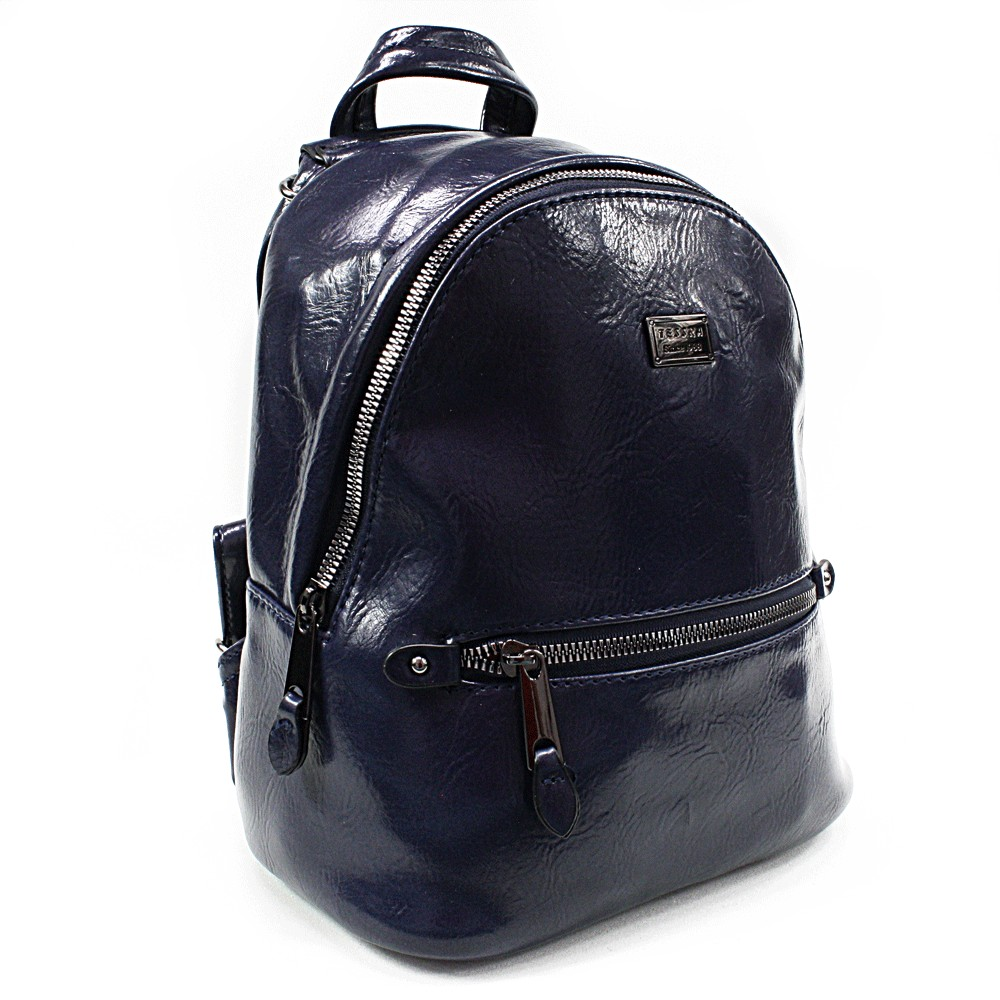 Tmavě modrý dámský elegantní batoh Lavern