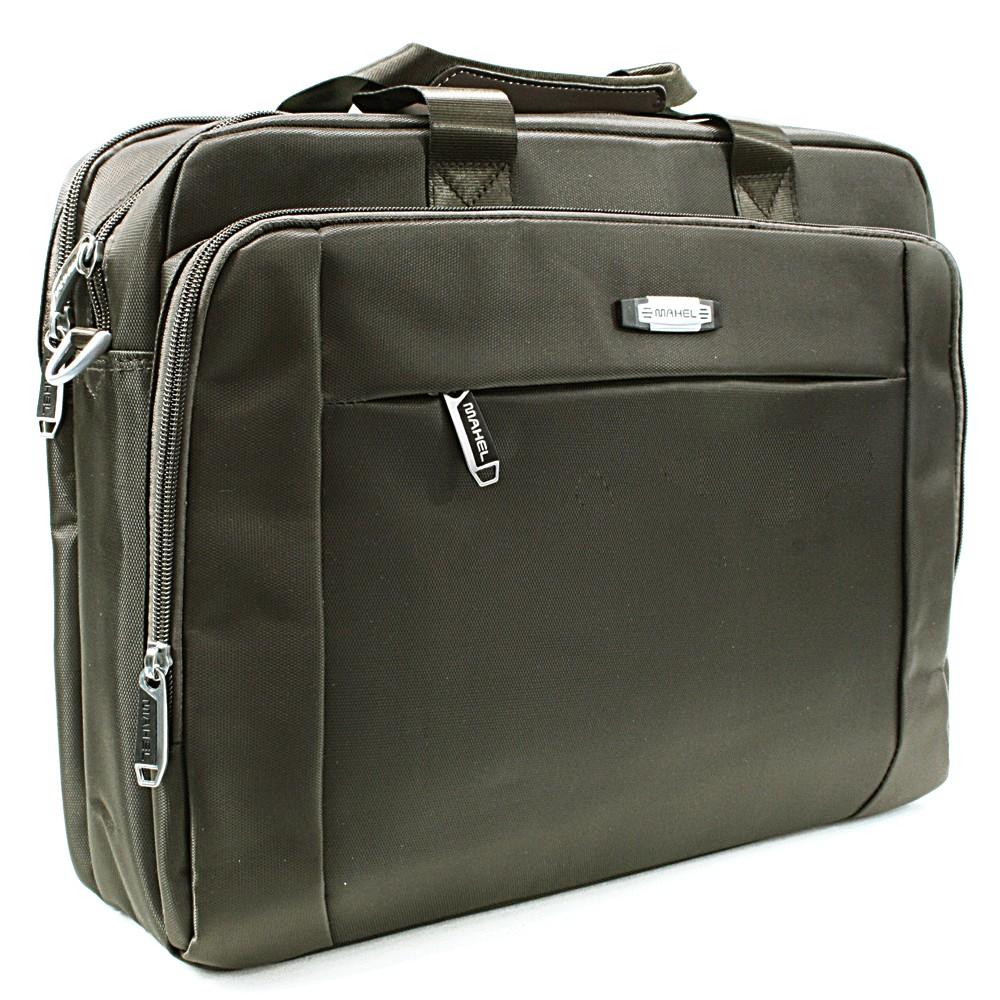 Kvalitní tmavě hnědá pánská taška na notebook Cursa