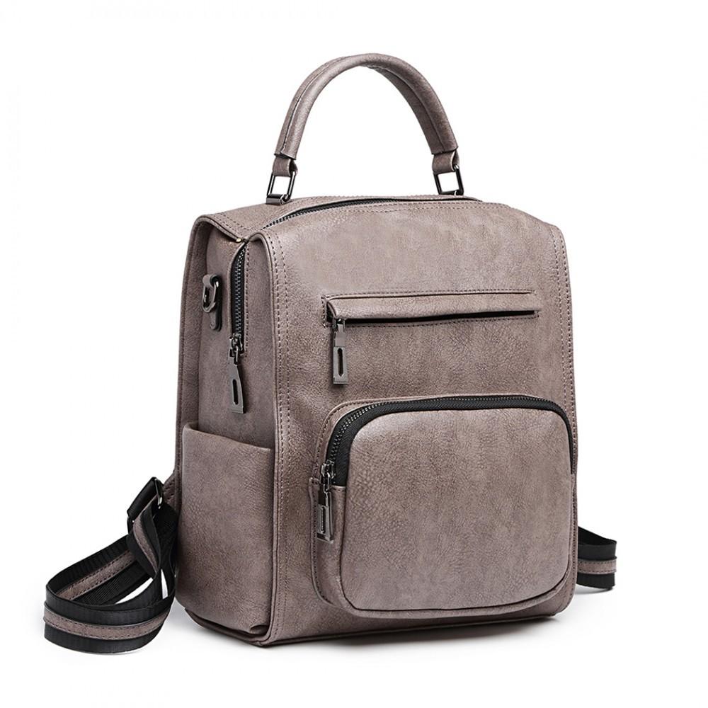 Šedý elegantní dámský batoh Leola