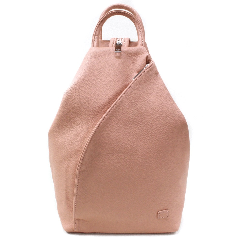 Světle růžový moderní dámský batoh Zastien