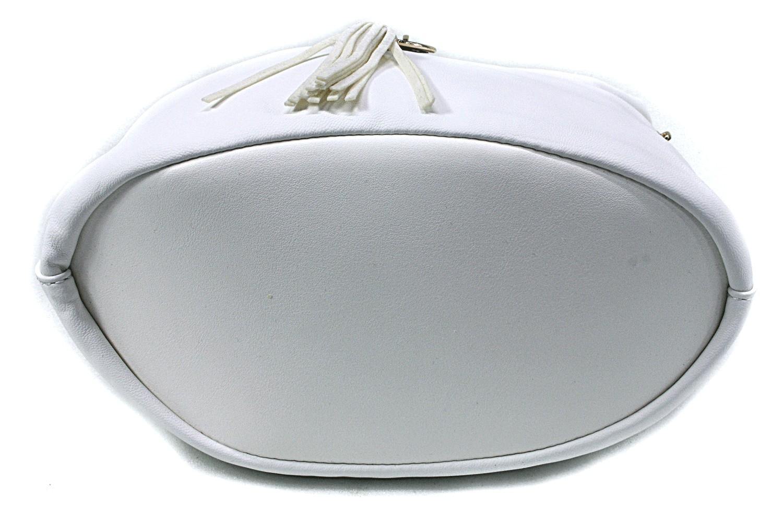 Bílá menší elegantní crossbody kabelka Lashonda