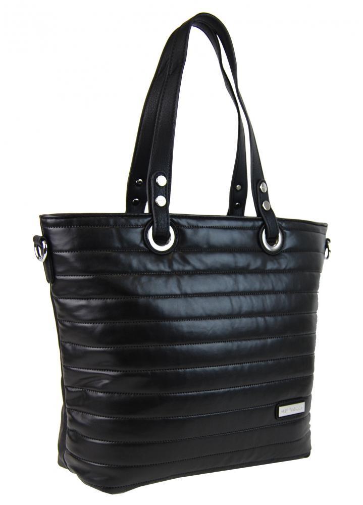 Černá prošívaná kabelka na rameno Jantie