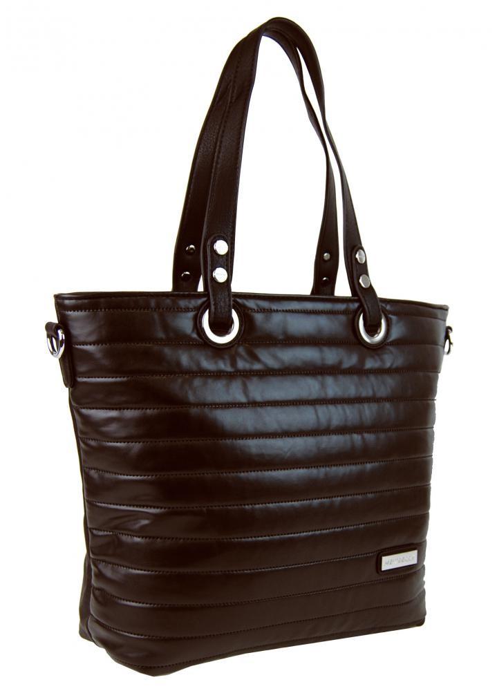 Tmavě hnědá prošívaná kabelka na rameno Jantie  27d5da660a4