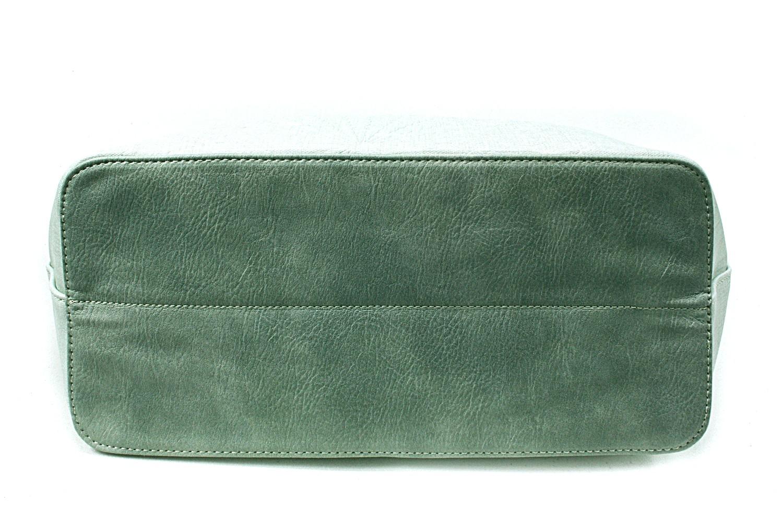 Světle zelená dámská kabelka do ruky i přes rameno Maiya