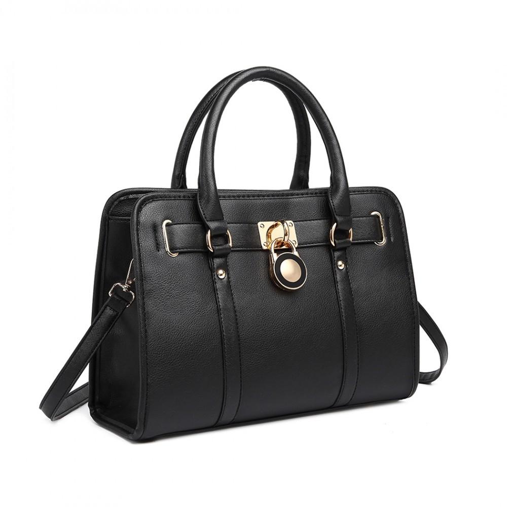 Černá dámská kabelka do ruky i přes rameno Jera