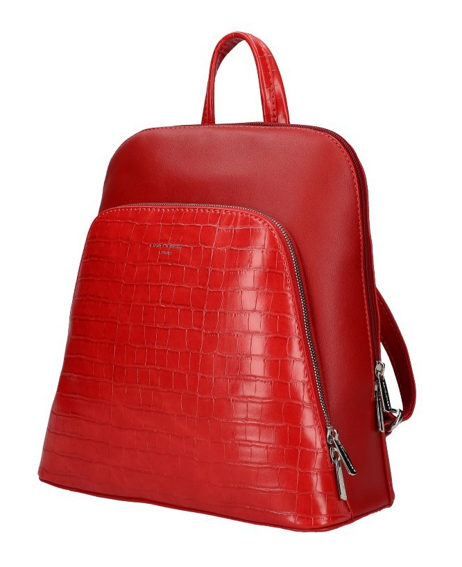 Červený dámský módní batůžek Flo