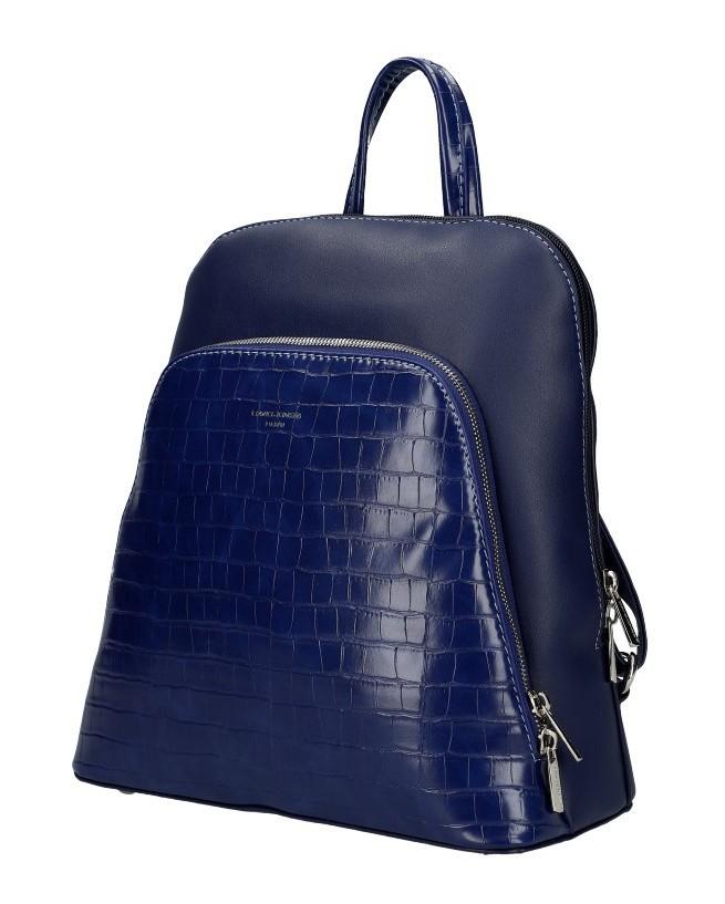Tmavě modrý dámský módní batůžek Flo