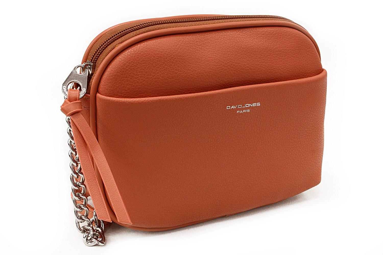 Oranžová moderní zipová dámská crossbody kabelka Flurry
