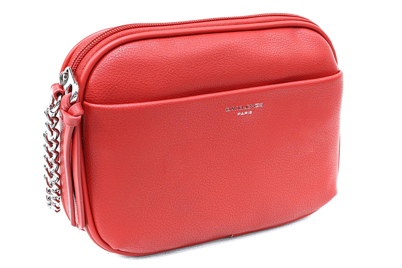 Červená moderní zipová dámská crossbody kabelka Flurry