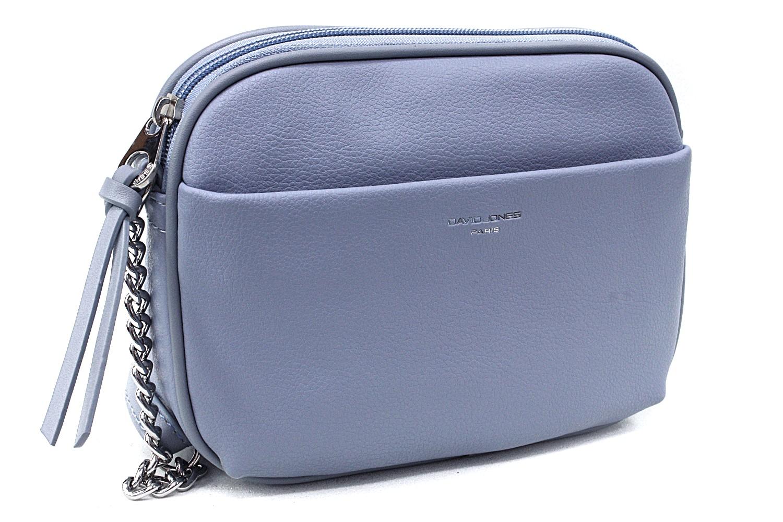 Světle modrá moderní zipová dámská crossbody kabelka Flurry