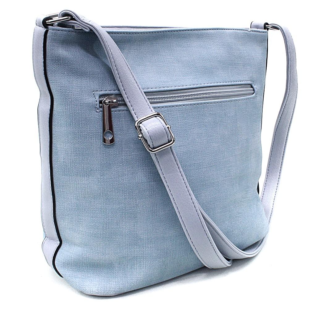 Světle modrá moderní dámská crossbody kabelka Dolanna