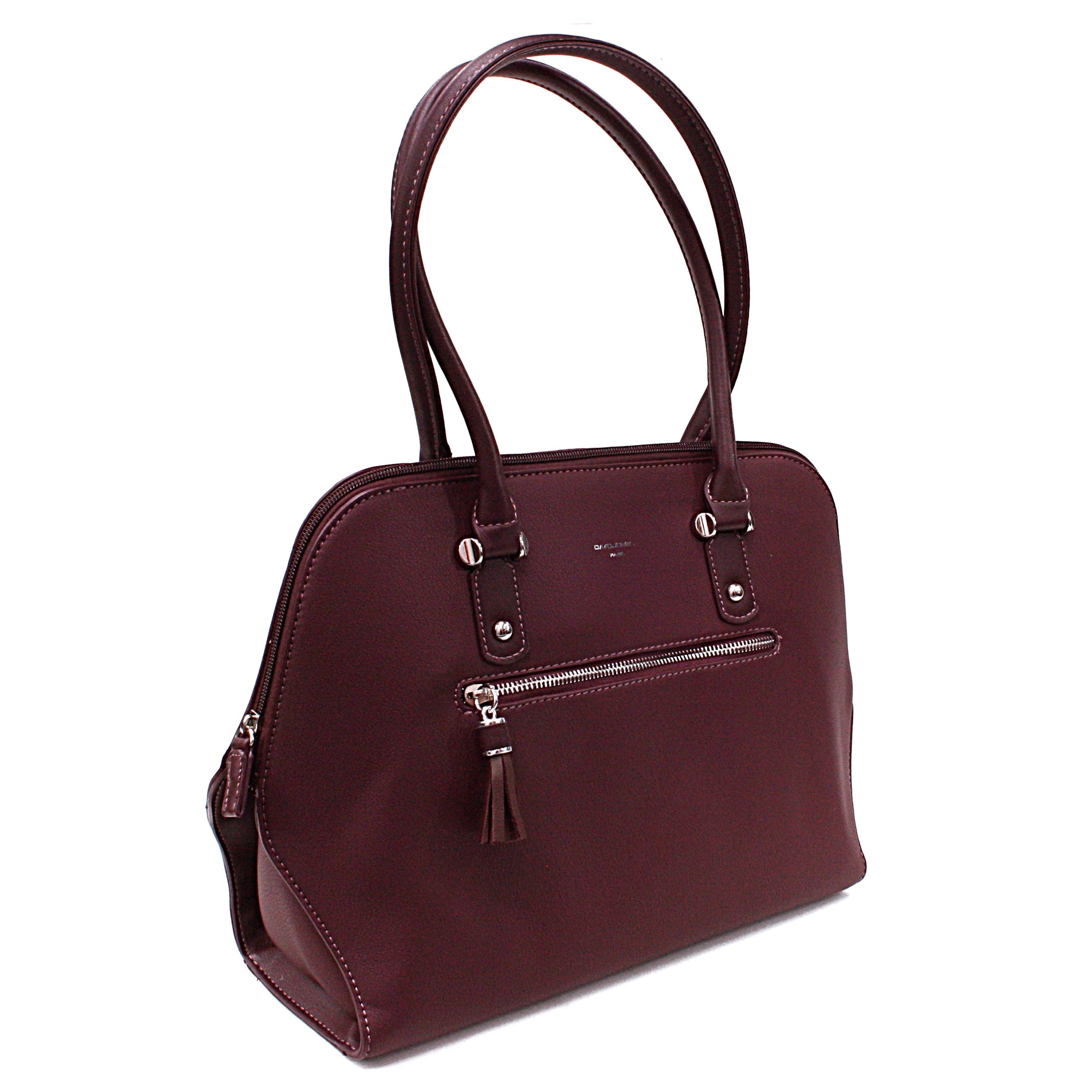 Tmavě vínově červená dámská kabelka do ruky Adlai