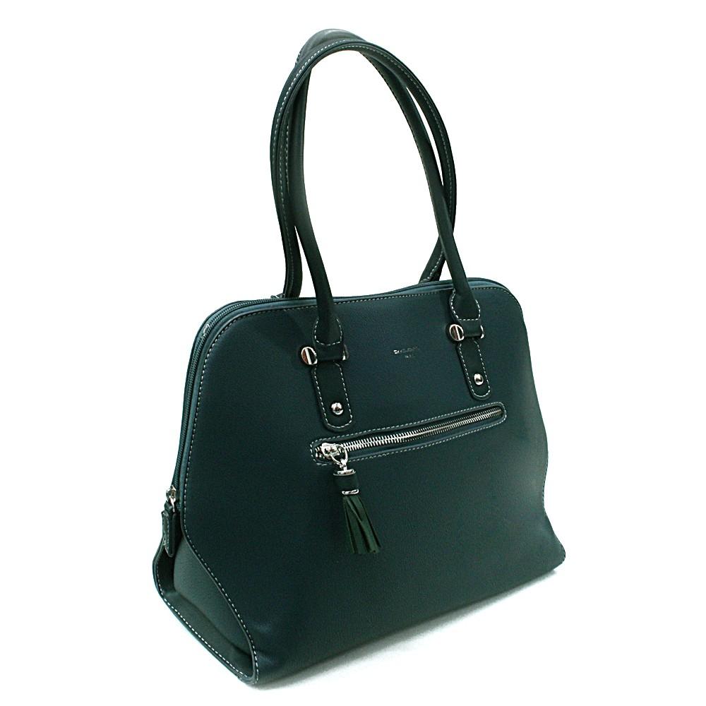 Tmavě zelená dámská kabelka do ruky Adlai