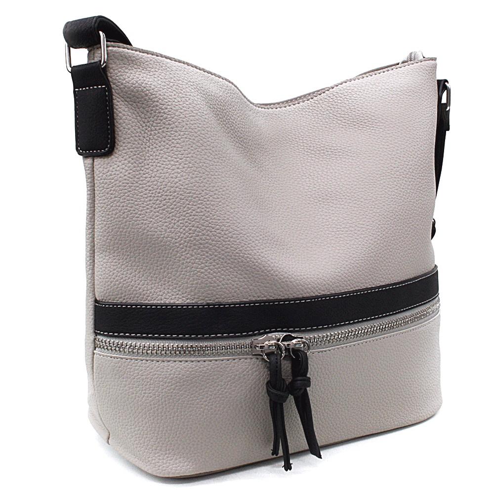 Šedočerná velká dámská kabelka Melany