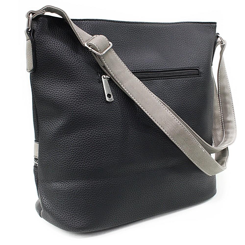 Černošedá velká dámská kabelka Melany