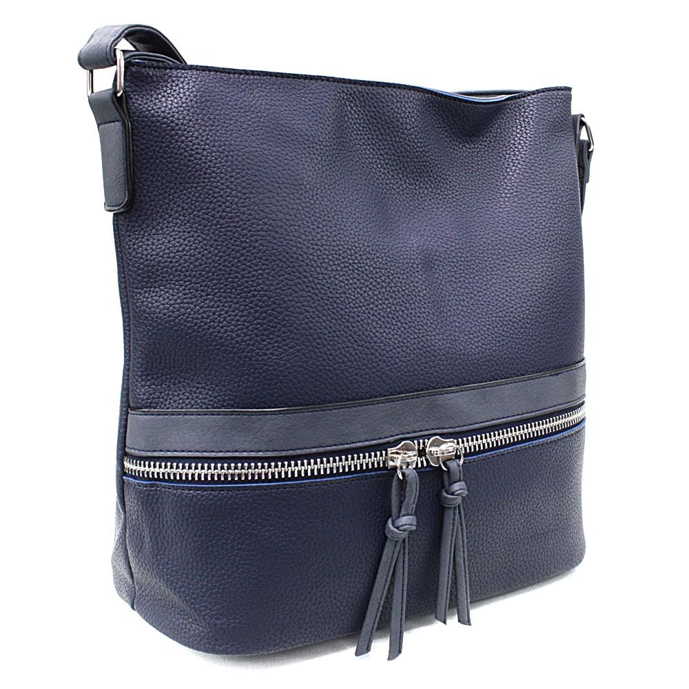 Tmavě modrá velká dámská kabelka Melany