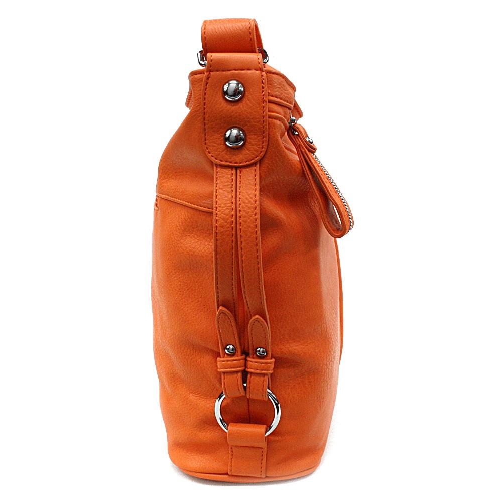 Oranžová velká moderní crossbody kabelka Ulbiel