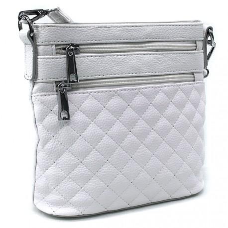 Bílá malá crossbody dámská kabelka Cordelia