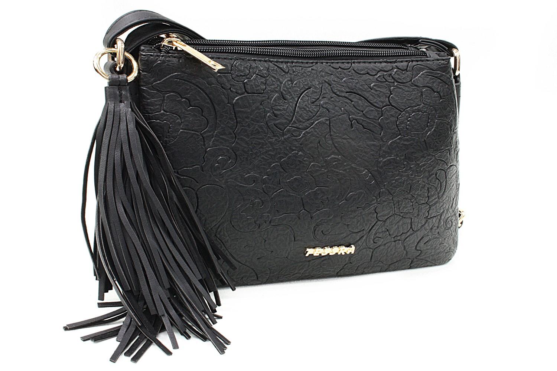 Černá netradiční crossbody dámská kabelka Pansy