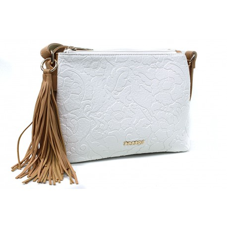 Bílá netradiční crossbody dámská kabelka Pansy