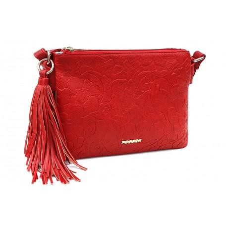 Červená netradiční crossbody dámská kabelka Pansy