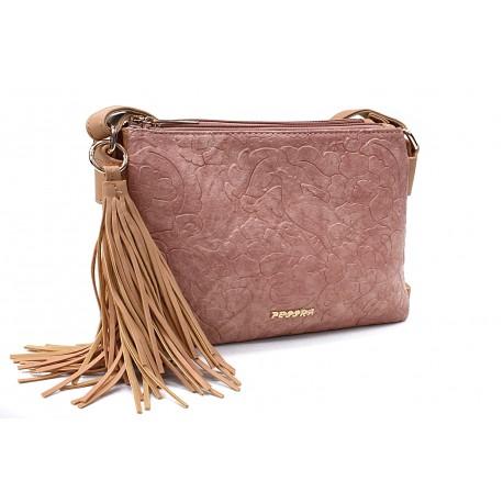Růžová netradiční crossbody dámská kabelka Pansy