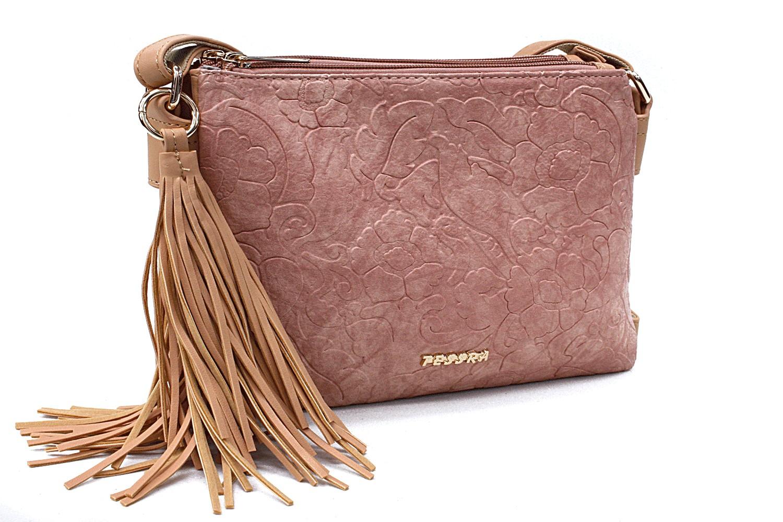 Růžovohnědá netradiční crossbody dámská kabelka Pansy