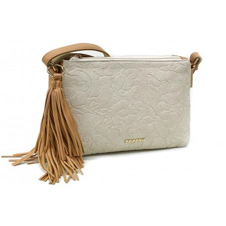 Béžová netradiční crossbody dámská kabelka Pansy