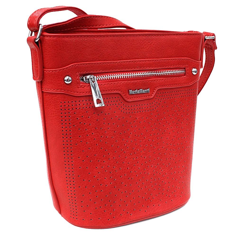 Ostře červená menší crossbody dámská kabelka Fernne