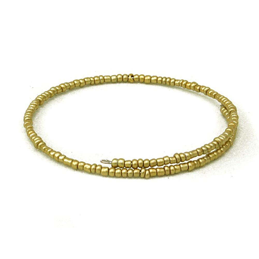 Zlatý dámský korálkový náramek Dallas