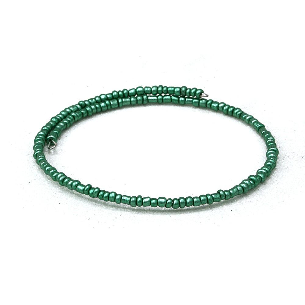 Zelený dámský korálkový náramek Dallas
