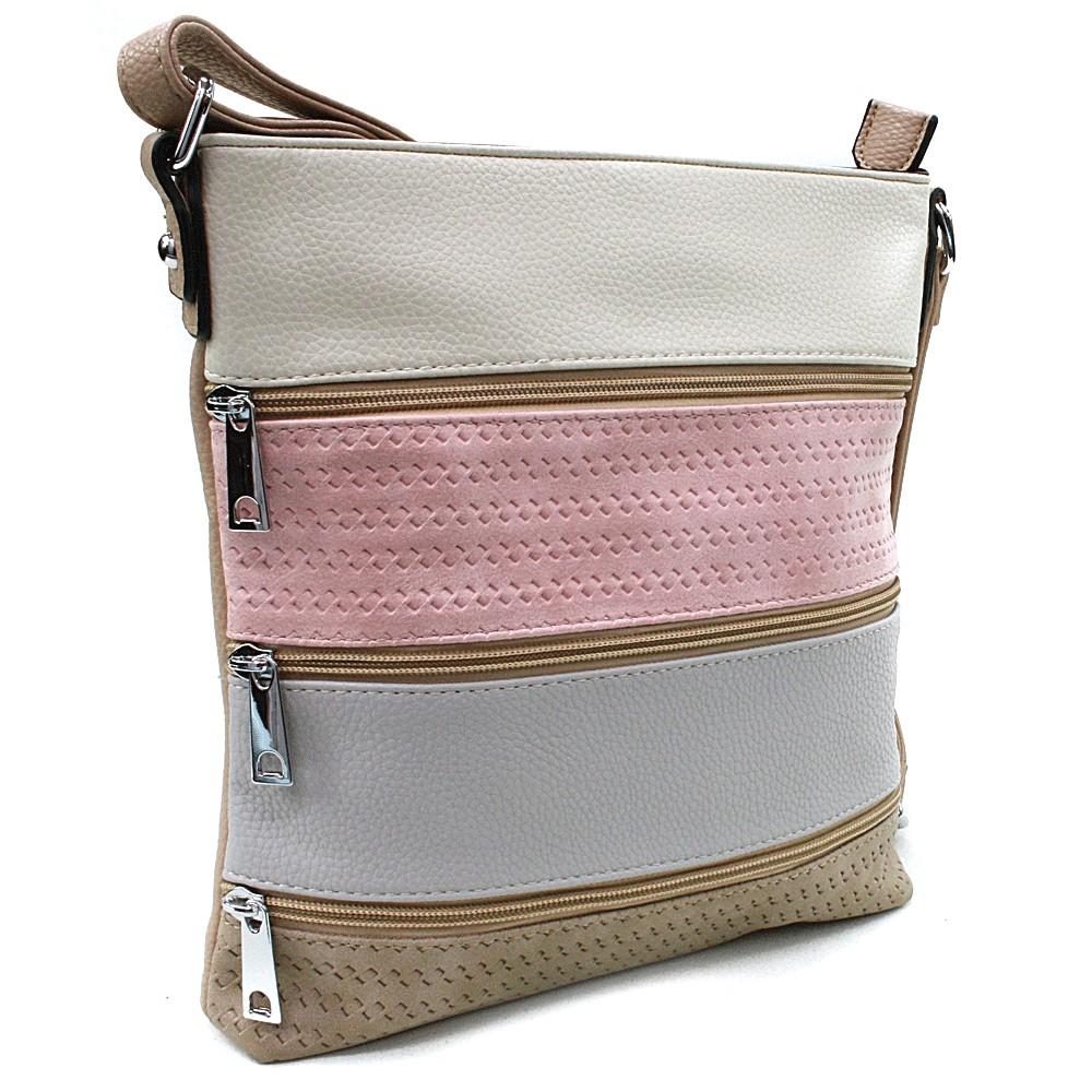 Béžová barevná crossbody dámská kabelka Martha