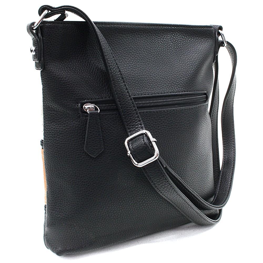 Černá barevná crossbody dámská kabelka Martha