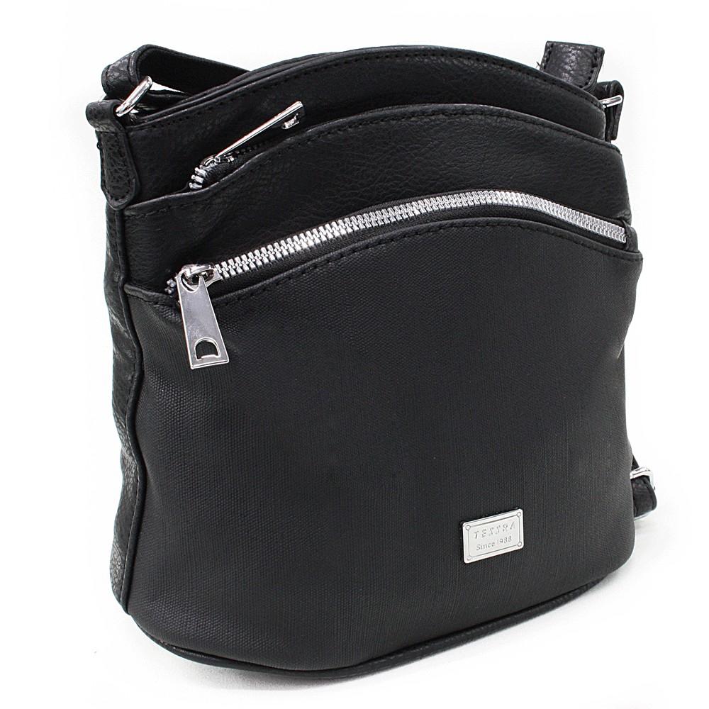 Černá malá crossbody dámská kabelka Alyvia