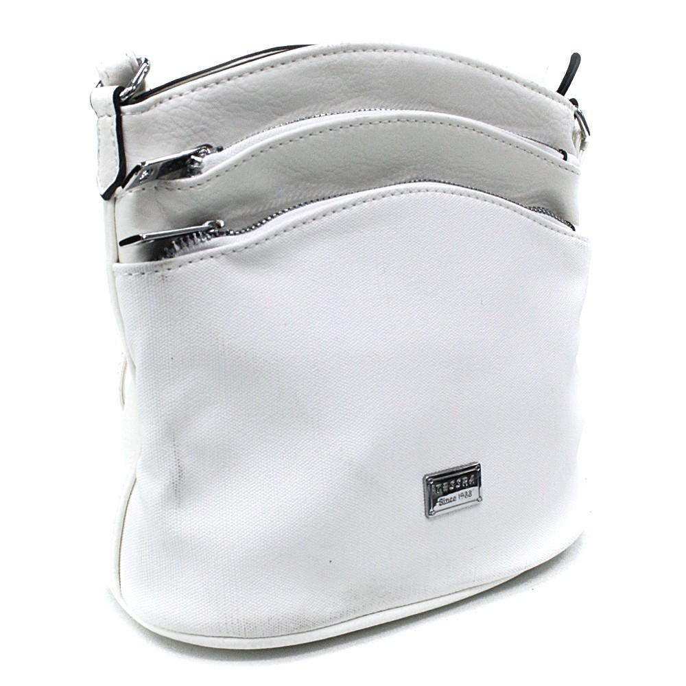 Bílá malá crossbody dámská kabelka Alyvia