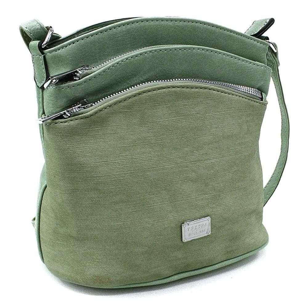 Lahvově zelená malá crossbody dámská kabelka Alyvia