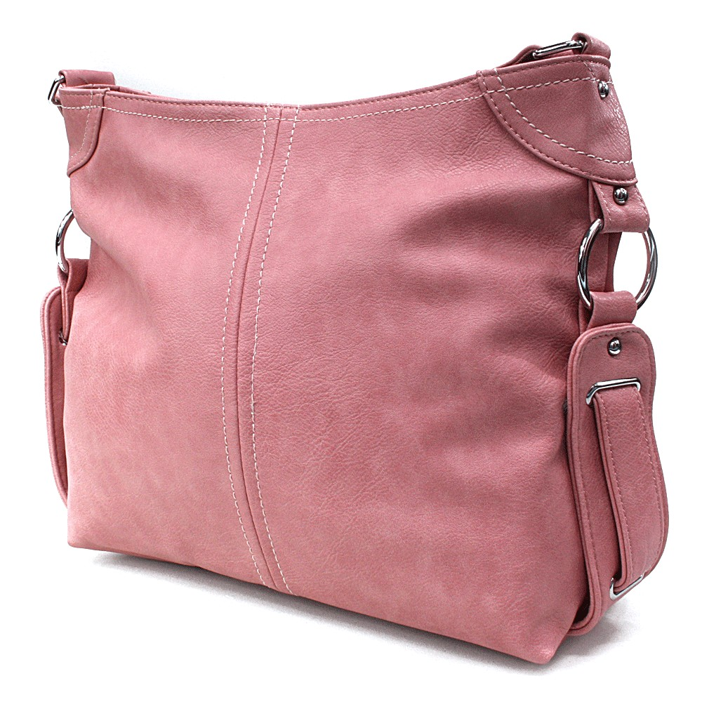 Růžová velká dámská kabelka Devyn