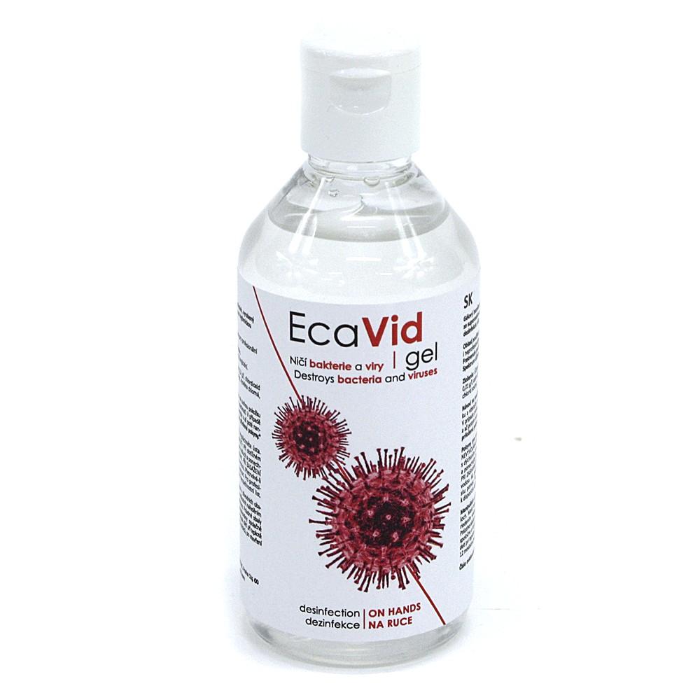 Gelový bezalkoholový dezinfekční prostředek na ruce EcaVid 115 ml - česká výroba