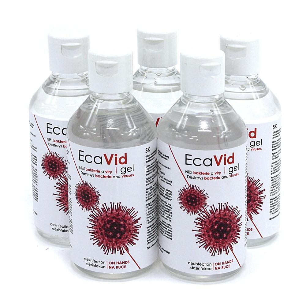Gelový bezalkoholový dezinfekční prostředek na ruce EcaVid