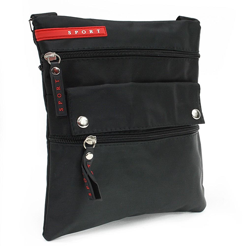 Černá menší pánská crossbody taška Reed