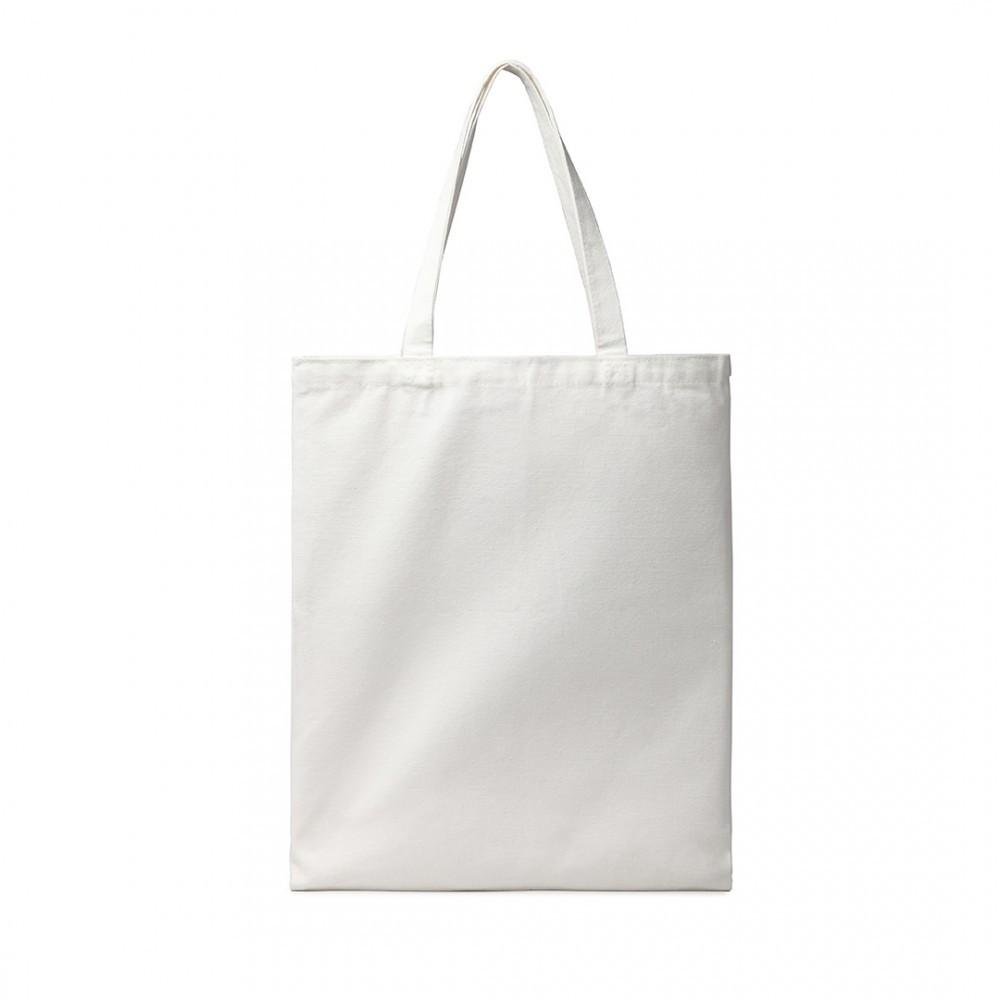 Bílá plátěná taška na nákupy Doran