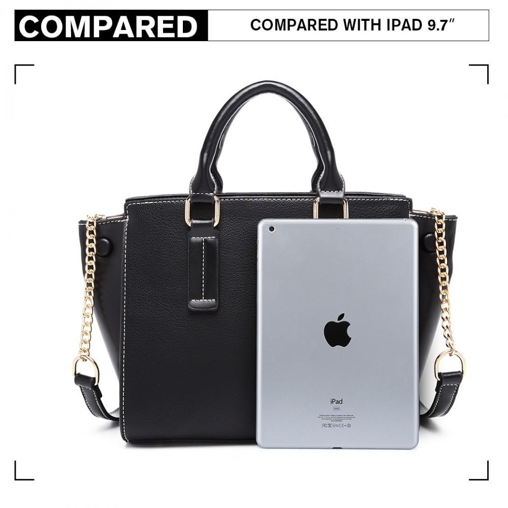 Černá luxusní dámská kabelka Leonda