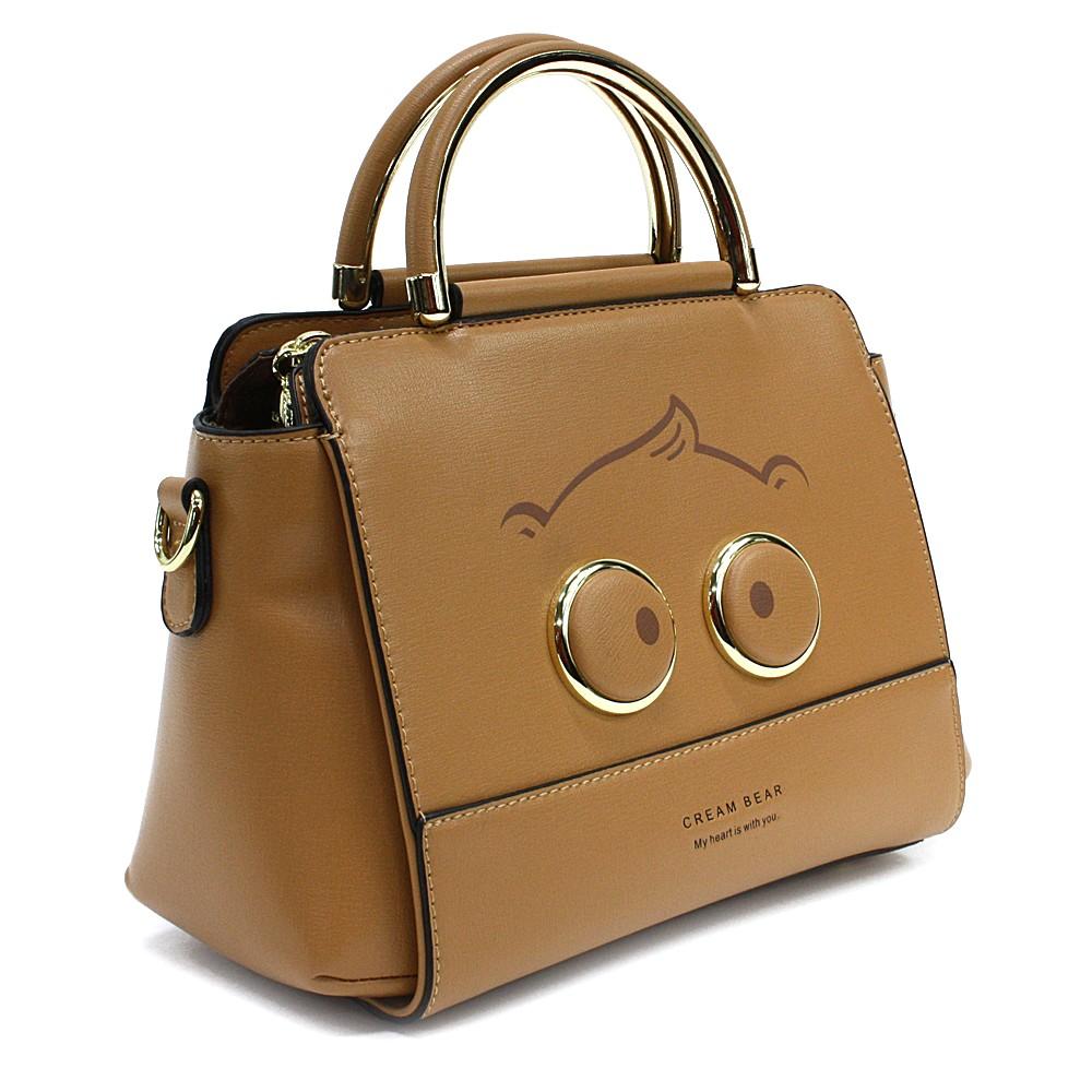 Hnědá originální dámská kabelka s motivem Miley