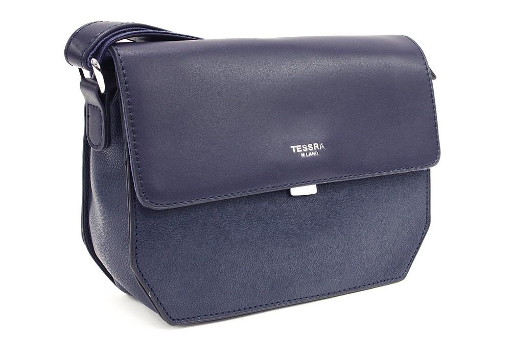 Tmavě modrá dámská klopnová kabelka Nanette